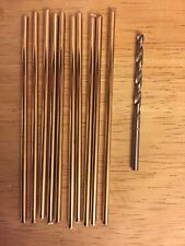 10x 10cm 3.2mm Silicon bronze knife making pins, PLUS GROUND HSS 3.2mm DRILL BIT