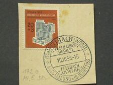 Bund Mi.Nr. 172 auf Briefstück mit Sonderstempel
