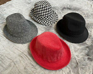 16 MIXED TRILBYS 4 STYLES OF TRILBY LADIES FASHION HATS - WHOLESALE JOB LOT