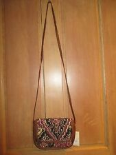 NEW* Billabong PURSE HANDBAG BAG HOBO Crossbody Black Brown Faux Leather