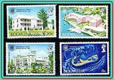 BERMUDA 1980 COMMONWEALTH MEETING SC#402-05 MNH  MAPS, ARCHITECTURE