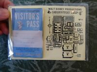 Walt Disney Productions Studio Visitors Pass Exclusive D23 PIN Never Opened RARE