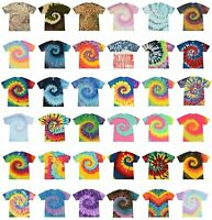 Tie Dye Kids T-Shirts Youth Sizes Unisex 100% Cotton Colortone-Gildan