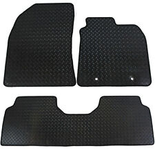 For Toyota Avensis MK3 2009-2011 Fully Tailored 3 Piece Rubber Car Mats 2 Clips
