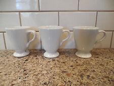 Set 3 Vintage Sterling Vitrified China Footed Coffee Mugs Cups Restaurant Ware