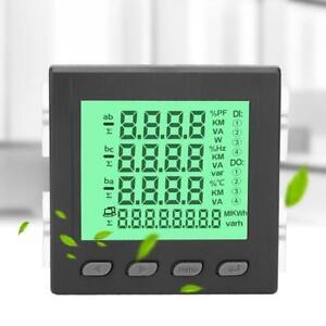 3-Phase Multi-function Digital LCD Display Energy Voltage Current Power Meter