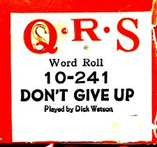 QRS Word Roll Petula Clark DON'T GIVE UP Dick Watson 10-241 Player Piano Roll