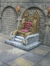 Wooden Throne Thomarillion Unpainted Resin Dwarven Forge D&D