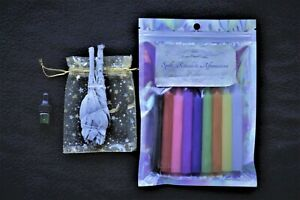 Moon Magick Candles, Sage & Oil REFILL set for Spells, Rituals and Affirmations