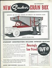 Farm Equipment Brochure Ad - Smoker - 120 - Self Unloading Grain Box (F6543)