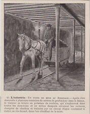 1896  --  BELGIQUE DANS UN PUITS DE MINE AU BORINAGE  3H476