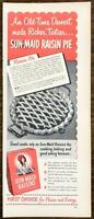 1949 Sun-Maid Raisins PRINT AD Old-Time Dessert Raisin Pie Recipe