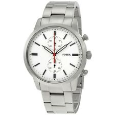 FOSSIL TOWNSMAN SILVER STAINLESS STEEL CHRONOGRAPH FS5346 MENS WATCH