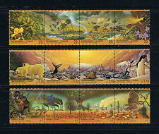 United Nations Evironment Flora / Fauna – 1993 – Strip of 4 Set Postage Stamps