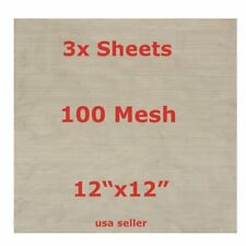 NEW 3 pcs. 100 mesh stainless steel 304 woven wire mesh screen 710 - 12