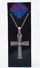 Monks Fancy Dress Costume Jewelled Cross Necklace Pimp Gangster Vicar Priest