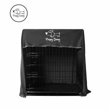 "Floppy Dawg Innovative 42"" Dog Crate Cover for Kennels and Wire Crates in Gray"