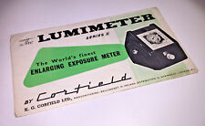The user manual / leaflet for a vintage Corfield Lumimeter Series II from 1950s