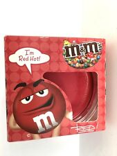 "M&M ""I'm Red Hot"" Cinnamon Scented Candle - NIB"