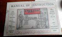 NEW REPRINT EARLY  A.C.Gilbert Erector TEENS MANUAL OF INSTRUCTIONS BOOK 1