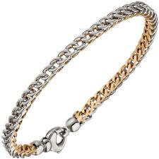 Armband bicolor 585 Gold Weißgold Rotgold Goldarmband Karabiner 21 cm 42014