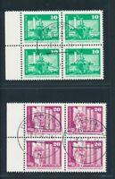 DDR 1974, Mi. 1868-69 gestempelt, Viererblocks aus Bogen!! Gepr. Mayer!! Mi. 330