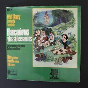 "1966 Walt Disney SNOW WHITE 7"" Book & Record Original Spanish Vintage HispaVox"