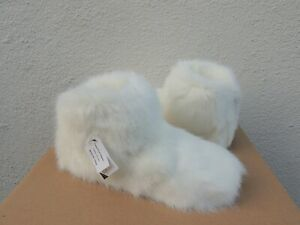 UGG WHITE AMARY FAUX FUR/ WOOL SLIPPER BOOTS, WOMEN US 7/ EUR 38 ~ NEW