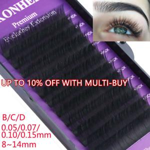 B C D Curl Individual Lashes Eyelashes Extension Faux Mink Hair False Eyelashes