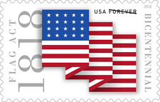#5283 2018 Flag Act of 1818 Single - MNH (Ships after June 12th)