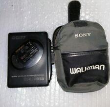 More details for vintage sony walkman wm-ex36 cassette player. with original case. working