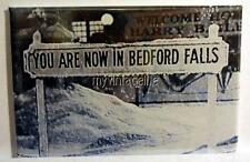 "IT'S A WONDERFUL LIFE Movie BEDFORD FALLS Sign 2"" x 3"" Fridge MAGNET"