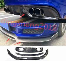 2PCS Carbon Fiber Bumper Fit Front Rear Board Guard For Jaguar XE XF XEL XFL