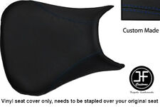 R BLUE STITCH VINYL CUSTOM FITS YAMAHA 600 YZF R6 99-02 FRONT SEAT COVER ONLY