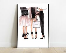 COCO CHANEL BAG LADY PRINT FOR HOME DECOR A4