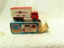 MATCHBOX DIECAST MODEL VAN TRUCK NO 42 SEA LAND BOX ON TRAILER MERCEDES  LORRY