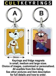 Danger Mouse keyring / fridge magnet - Penfold, Colonel K, Baron Silas Greenback