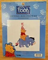 Disney Winnie The POOH Counted Cross Stitch Kit STACKED POOH Eeyore Piglet NEW!