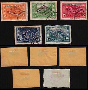Albania 1929 SC 158-161 used 162 mint. g2127
