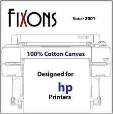"Ultra Premium Inkjet Cotton Canvas Matte For HP 17"" x 40' Roll (4 Roll Bundle)"