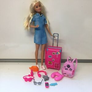 Barbie Doll With Suitcase Backpack & Accessories