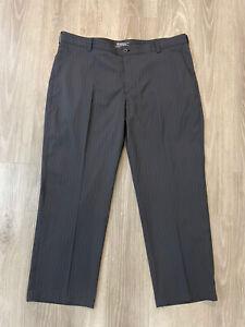 NIKE GOLF Dri-Fit Men's Golf Pants Size 40 X 28 Tour Performance Black Striped