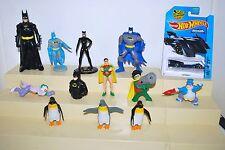 Vintage Batman 1990s Lot 13 Action Figures Toys Plus Happy Meal Toys Hot Wheels