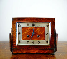 Haller Mantel Clock with 8 Day Chiming Movement Antique Vintage Art Deco 1930s