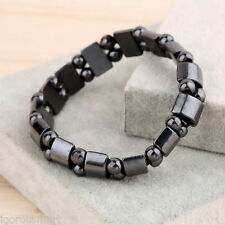 Brand New Men Women Black Magnetic Hematite Wrist Bracelet Therapy Arthritis