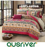 New Bed Quilt/Duvet/Doona Cover Set Bed Skirt/Fitted Sheet 100%Cotton Florence