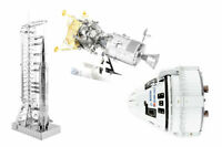 3 Metal Earth 3D Model Kits Apollo Saturn V Gantry, CSM w/ LM & Boeing Starliner