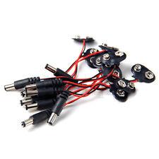 10x 9v DC Batterie Clip / Pince avec Adaptateur 2.2mm DC Plug Pr Arduino HG