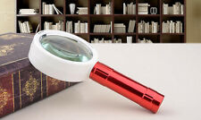 20X 70mm Illuminated LED Magnifier Loupe Magnifying Glass with Handle Lamp