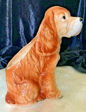 Vintage Cocker Spaniel Planter Dog Figurine Captures the Breed's Best